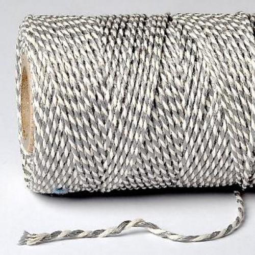 Bakerstwine Kordel SILBER Metallic Rolle 20m