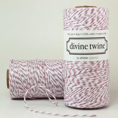 Divine Twine Rolle Garn lila / weiß 4-fädig