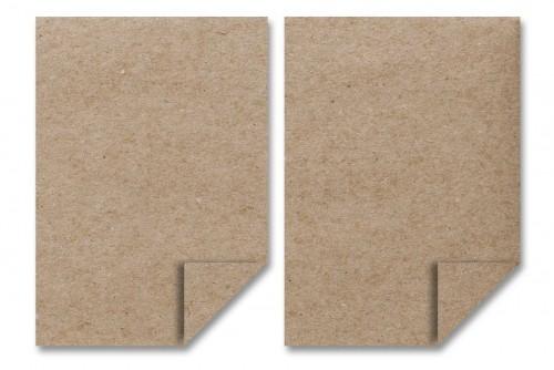 5 Bögen A4 Kraftpapier Pappe 350gr braun