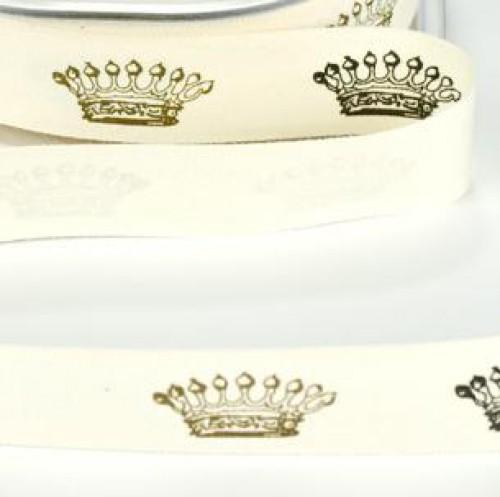 Schleifenband Crown Krone vintage