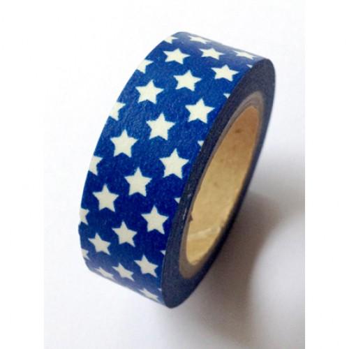 Masking Tape kleine Sterne blau