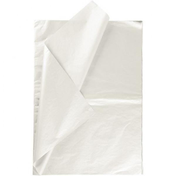 6 Bögen Seidenpapier perlmutt