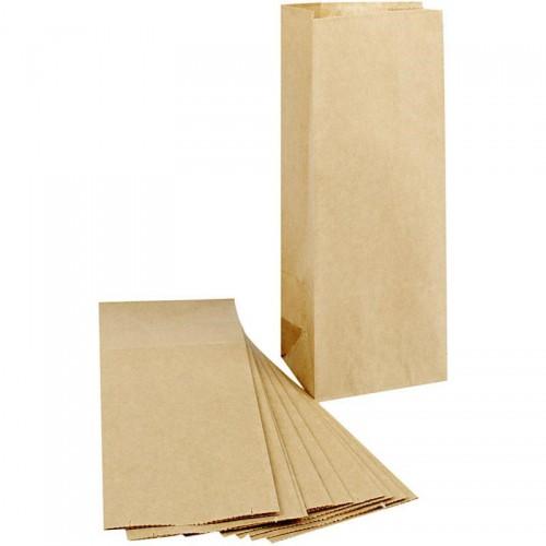 10 Papierbeutel Kraftpapier m.Boden hoch