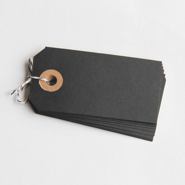 Paketanhänger schwarz 15 Stk klein