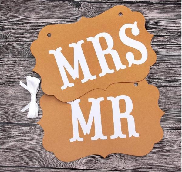 Stuhldeko Hochzeit Mr Mrs Kraft