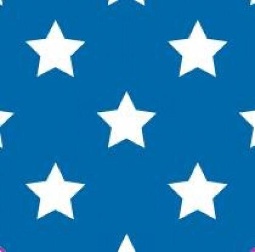 20 Bögen Seidenpapier dunkelblau mit weissen Sternen