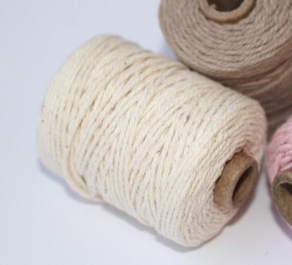 natur Baumwollkordel 50m