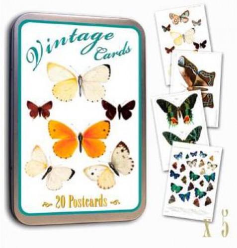 Vintage Postcards Schmetterlinge 20 Stk