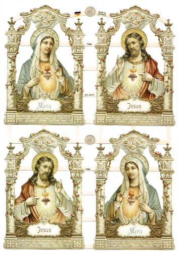 Glanzbilder Ikonen Maria Jesus heiligenbilder Oblaten