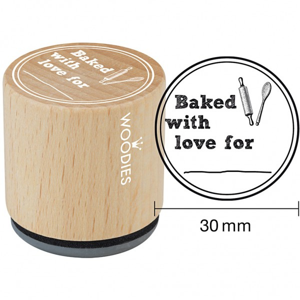 kleiner Stempel BAKED WITH LOVE 30mm