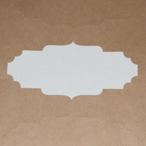 blanko A4 Bogen Kraftpapier braun Label 10 Stk Ornamtrahmen quer