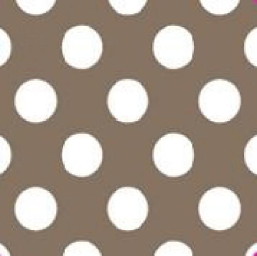 20 Bögen Seidenpapier taupe mit weissen Punkten