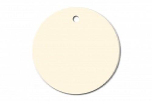 10 runde Pappanhänger off-white creme 40mm