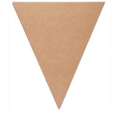 12 Wimpel Flaggen Kraftpapier 15cm Kraft 280gr