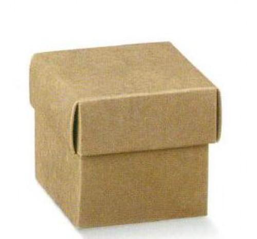 5 kleine Faltschachteln Kraft 5x5x5 cm mit Deckel