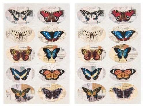 20 Sticker vintage Butterfly Schmetterlinge