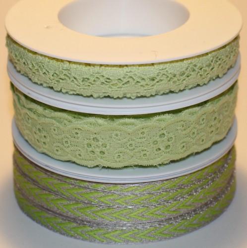 Spitze Lochstickerei hellgrün 20 mm