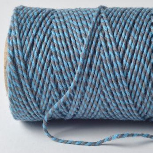 Bakerstwine Garn blau grau 20m