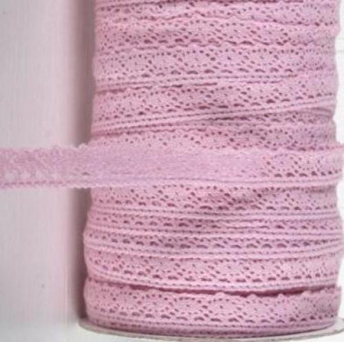 rosa Häkel-Spitze 17mm