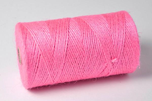 Jute Garn pink 100m Rolle