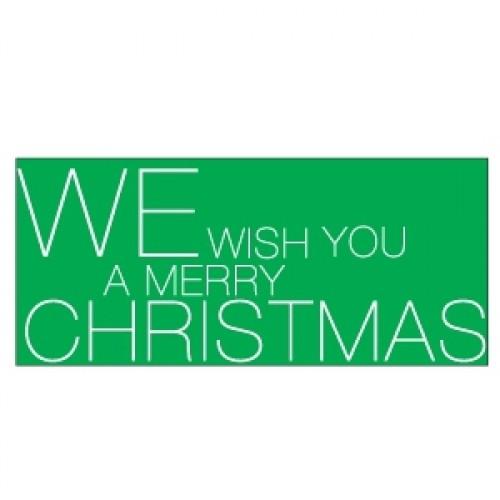 10 Sticker MERRY CHRISTMAS grün
