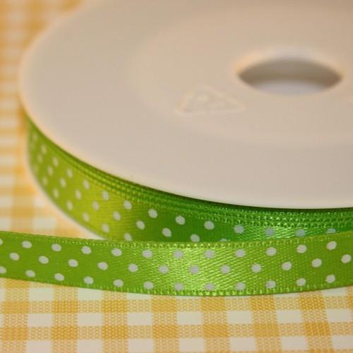 Schleifenband Punkte hellgrün