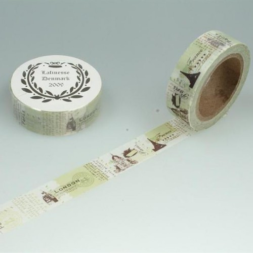 Washi Masking Tape vintage London Paris