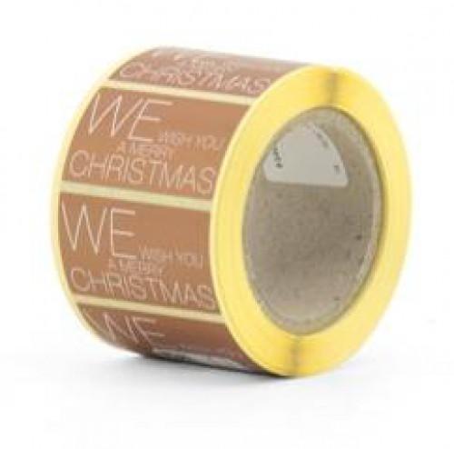 10 Sticker MERRY CHRISTMAS bronze