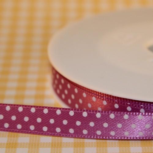 Schleifenband Punkte lila