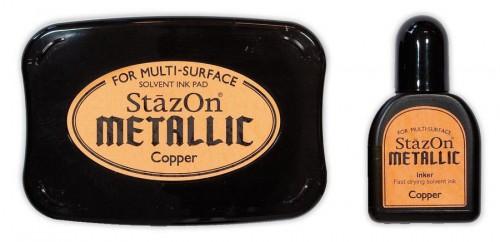 Stempelkissen StazOn METALLIC Kupfer