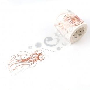 Masking Tape Jellyfish roségold 40mm x 5m Washi