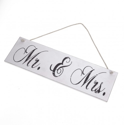 grosses Dekoschild MR & MRS Hochzeit 40x15cm