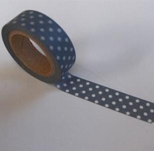 Washi Masking Tape grau weiss Punkte