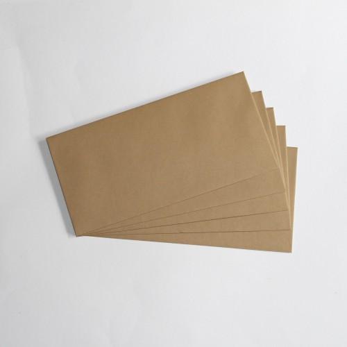 edle Briefumschläge aus Kraftpapier DL