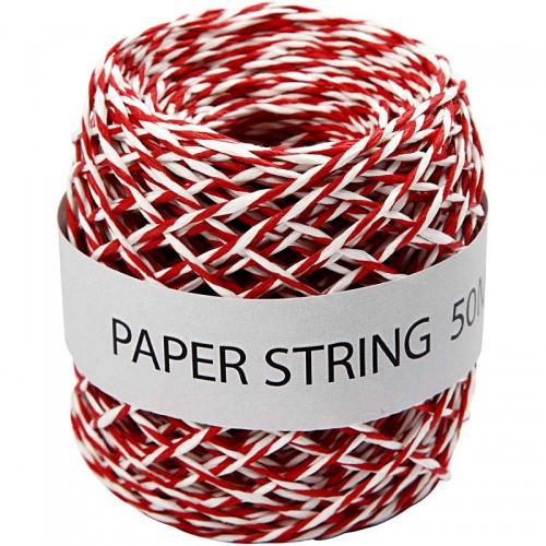 Rolle Papierkordel rot weiss 50 Meter
