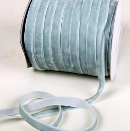 grau-blaue Samtband 10mm