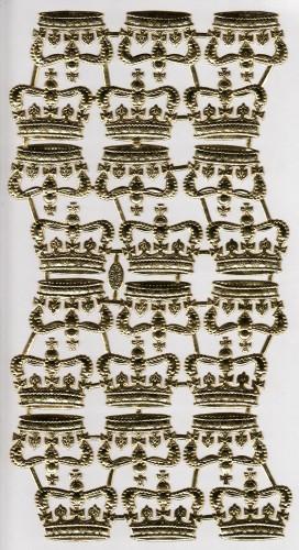 24 goldene Kronen Papier geprägt