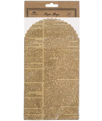 6 Papiertüten vintage Dictionary print