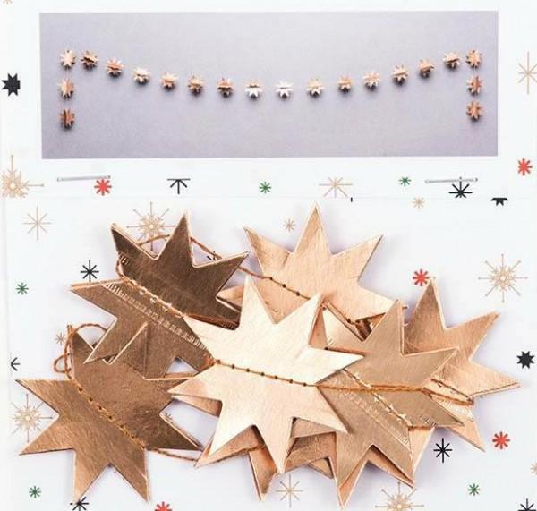 Papiergirlande Sterne gold