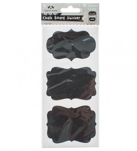 12 Sticker BRACKET Tafelfolie schwarz