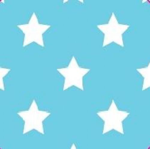 20 Bögen Seidenpapier hellblau mit weissen Sternen