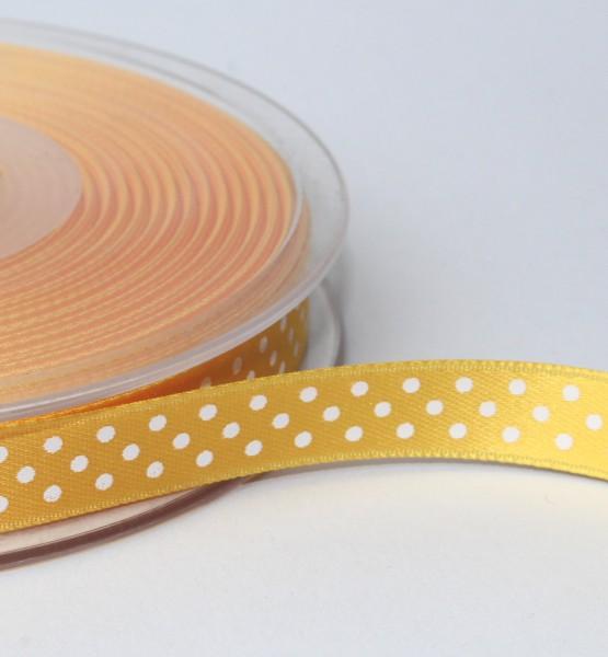 Satinband gelb Minidots10mm