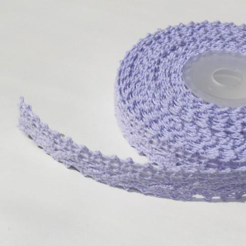Rolle lila Häkelspitze selbstklebend 5 Meter Spitze flieder