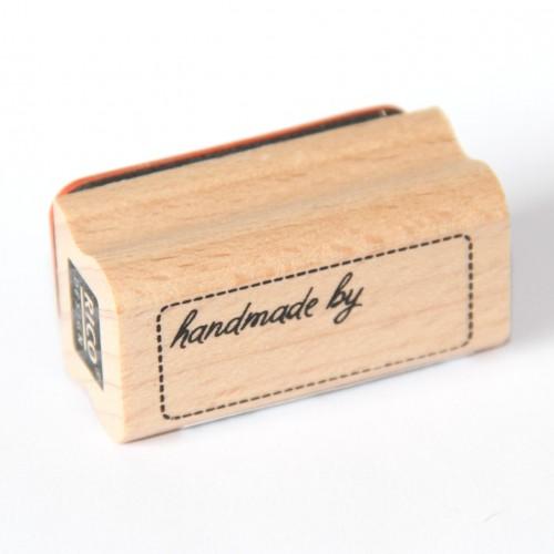 "Stempel ""handmade by"" Label"