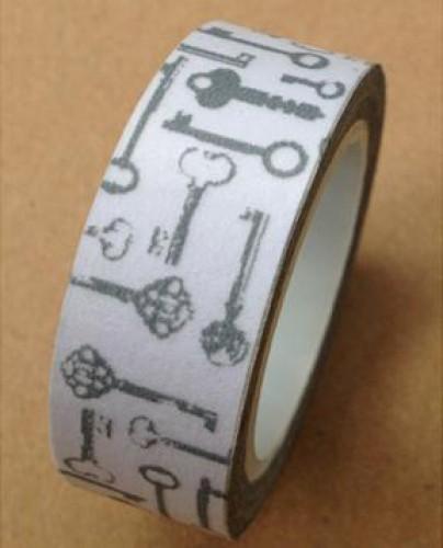 Masking Tape vintage Schlüsselgrau