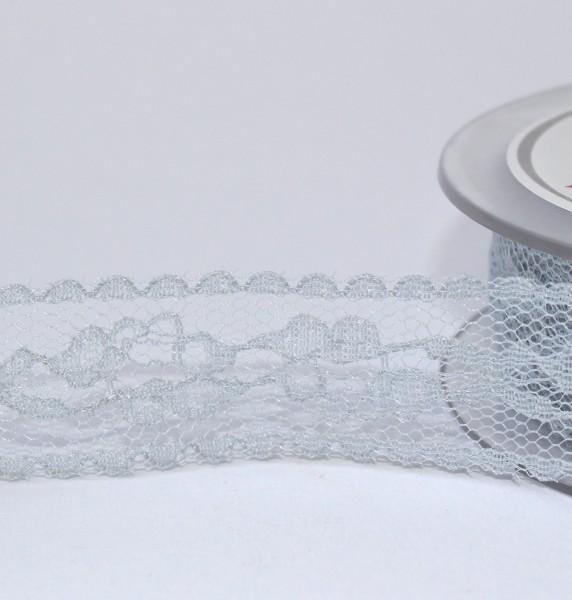 graublaue Spitze 23mm Polyester