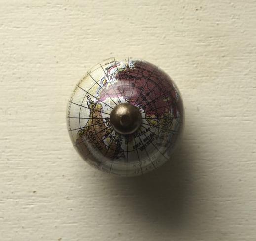 vintage Knauf Globus beige klein