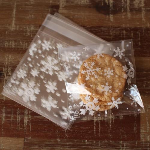 10 Cellophantüten Snowflakes für Kekse Gebäck