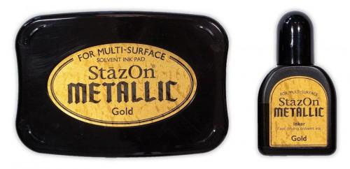 Stempelkissen StazOn METALLIC GOLD