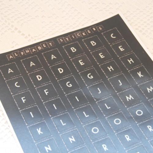 Stickerbogen vintage Buchstaben Alphabet klein